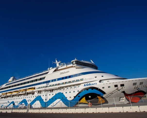 Our Aida Cruise ship, which took us through the Mediterranean Sea, from Palma de Mallorca, Rome, Livorno, Marseille to Barcelona.