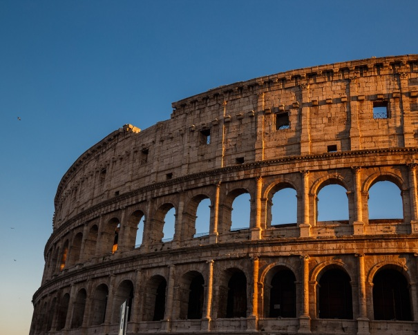 Partial view of the Colosseo in Rome