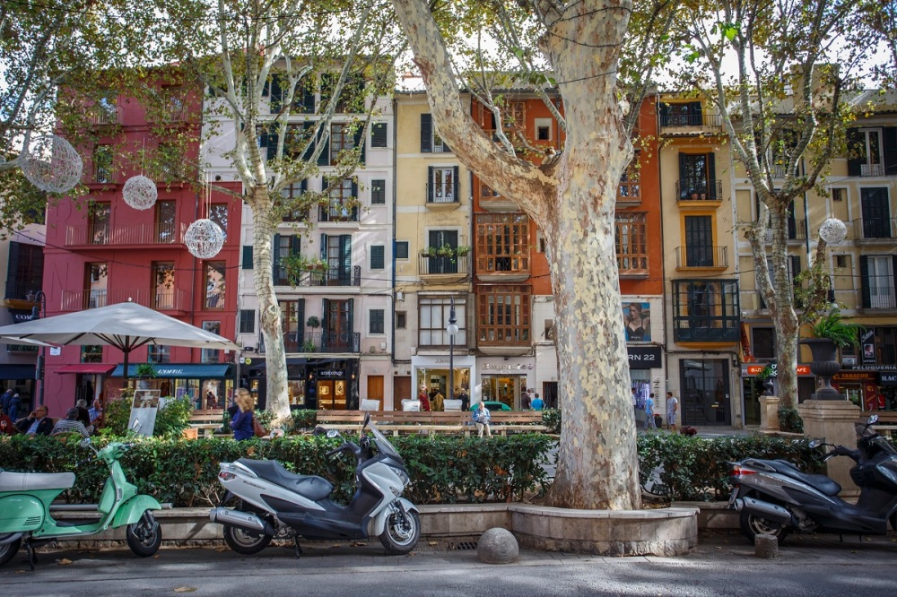 Streetview of Passeig Del Born in Palma